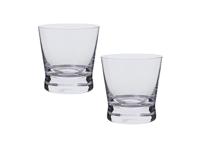 Dartington Bar Excellence Whisky Rocks Glass, Clear, Pack of 2 - 1