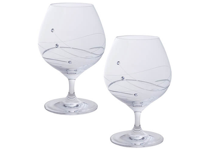 Dartington Crystal Brandy/Liqueur Glasses - Glitz - 1
