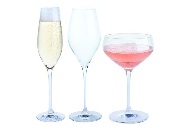 "Dartington Crystal ""Fizz, Fizz, Fizz"" Drinking Gift Set, Transparent, 3-Piece - 2"