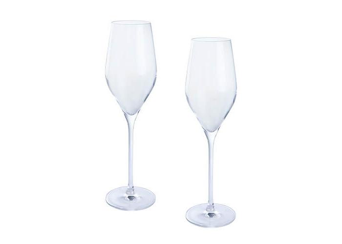 Dartington Crystal Wine and Bar Prosecco Pair, Transparent, 2-Piece - 1