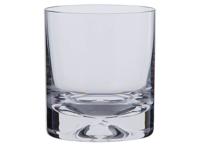Dartington Dimple Old Fashioned Tumbler, Clear, Pack of - 2