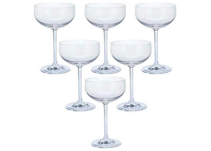 Dartington Party Set of Six Champagne Saucers, 8.5 x 8.5 x 16.5 cm - 1