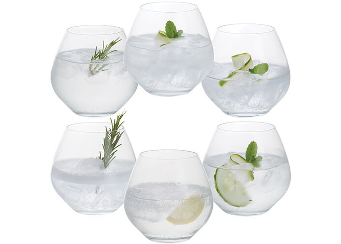 Dartington Stemless Gin Copa Party Glasses Set of 6 - 1