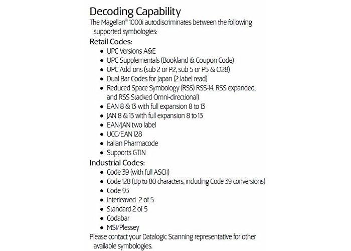 Datalogic Magellan 1000i Omni-Directional Scanner Black MG102020-001-201R - 2