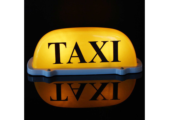 Buy Dc12v Car Taxi Cab Roof Top Sign Light Lamp Magnetic