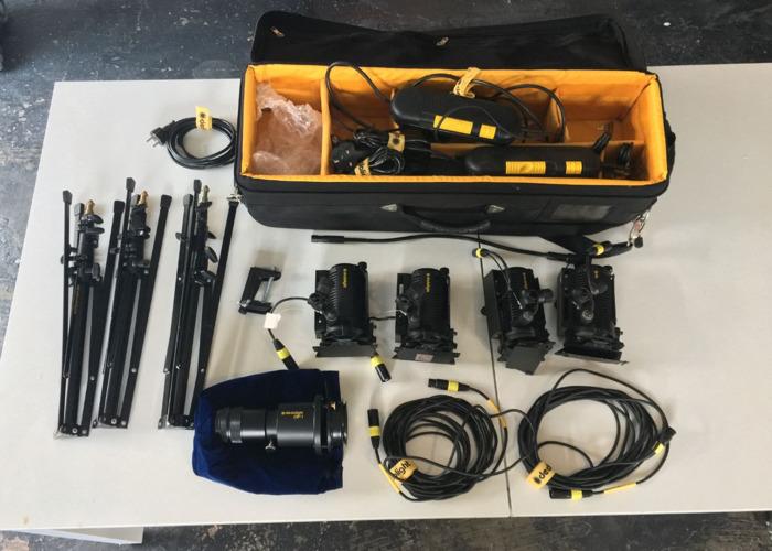 Dedolight DLH4 150w Kit x4 inc DP1 Projector attachment - 1