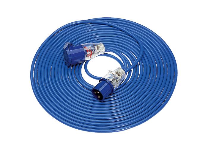 Defender Extension Lead 14m Blue Arctic 1.5mm 16amp 240v - 1