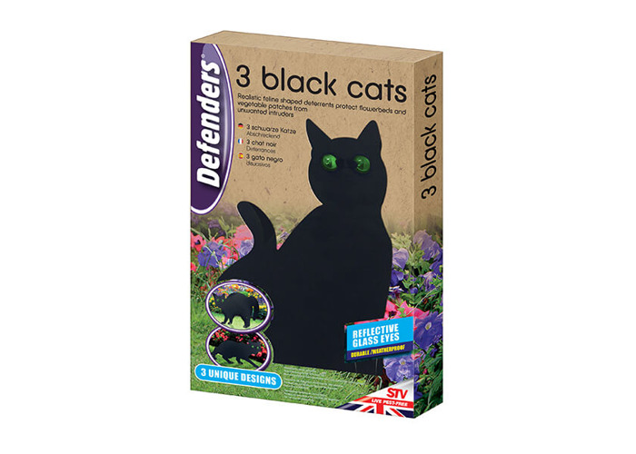 Defenders Three Black Cats Deterrents - 1