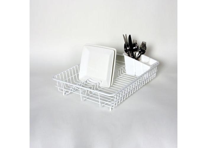 Delfinware Large Dish Drainer, White - 1