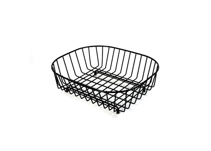 Delfinware Oval Sink Basket, Black - 1