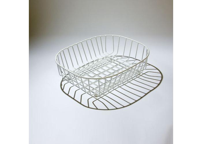 Delfinware Oval Sink Basket, White - 1