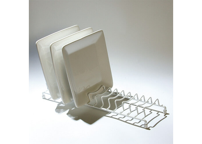 Delfinware Wireware White Popular Plate Rack - 1