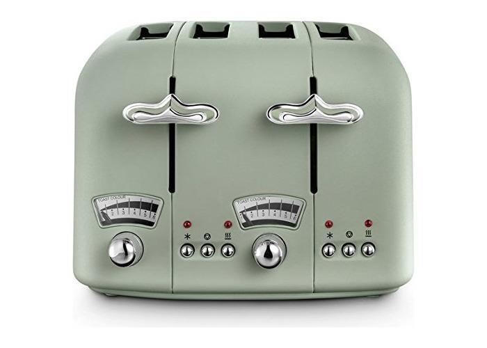 De'Longhi CTO4.GR Argento Flora 4-Slice Toaster 1800W (Green) - 1