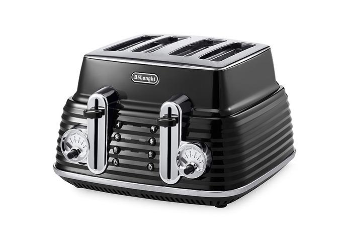 Delonghi Scultura 4 Slot Toaster Black - 1
