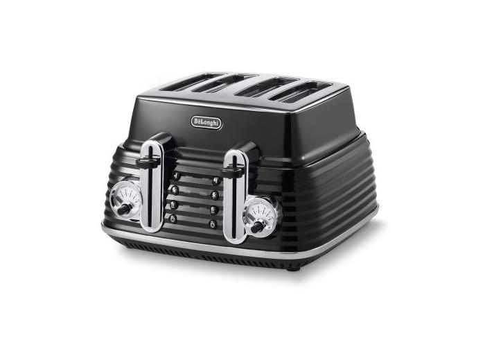 De'Longhi Scultura CTZ4003BK 4-Slice Toaster - Black - 1