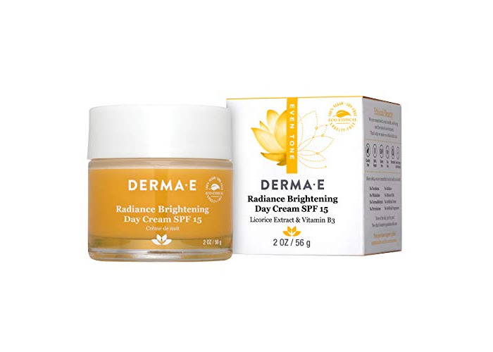 DERMA E Even Tone Brightening Day Cream SPF 15 with Vitamin C, 2oz - 1