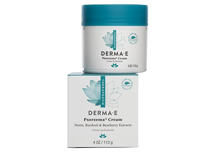 DERMA E Psorzema Cream, Natural Relief for Scaling, Flaking, and Itching, 4 Oz - 1