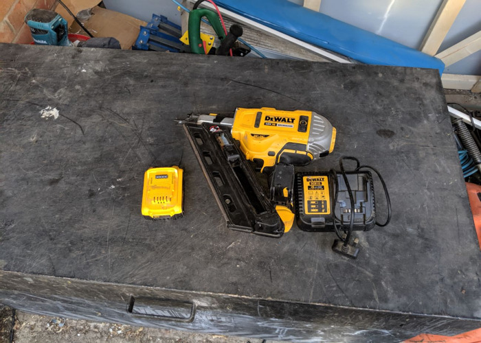 DeWalt 18v first fix nail gun with battery and charger - 1