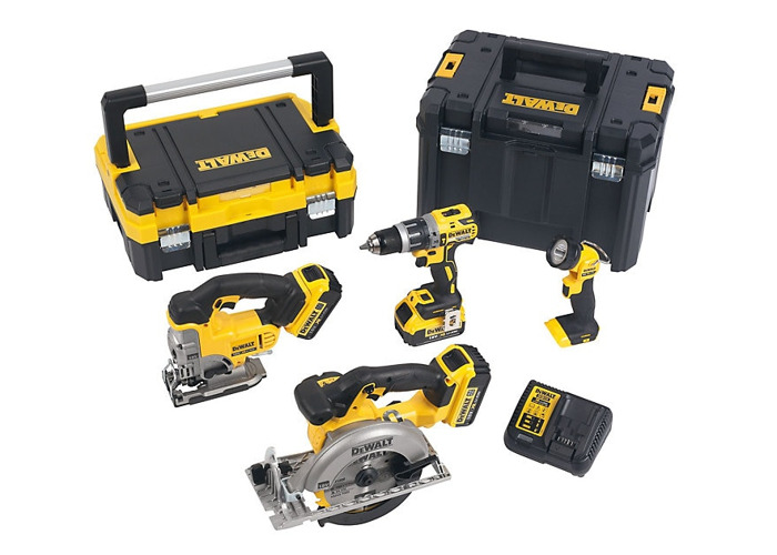 DeWalt Cordless 18V 4Ah 4 piece Power tool kit - 1