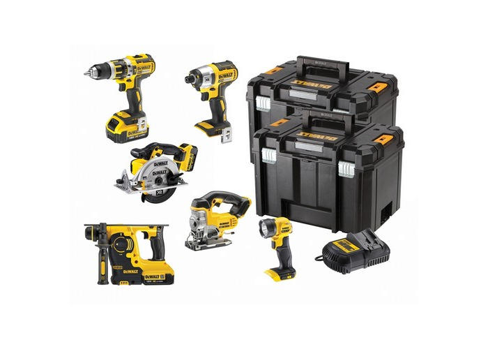 DeWalt DCK699M3T-GB XR 6 Piece Kit 18 Volt 3 x 4.0Ah Li-Ion - 1
