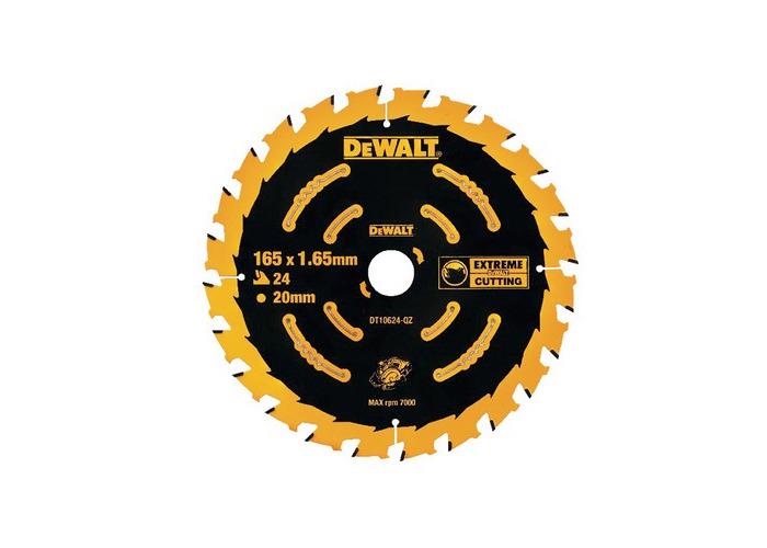 DeWalt DT10624-QZ Circular Saw Blade 165mm x 20mm x 24 Teeth Cordless Extreme Framing - 1