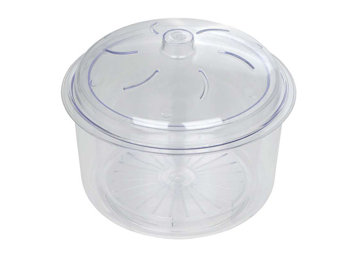 Dexam 3-Piece 2.3 Litre Microwave Rice and Vegetable Steamer with Basket and Lid, Transparent - 1