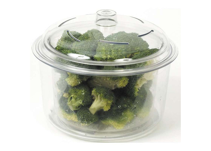 Dexam 3-Piece 2.3 Litre Microwave Rice and Vegetable Steamer with Basket and Lid, Transparent - 2