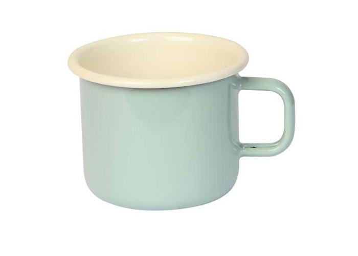 Dexam 450 ml Enamelled Steel Vintage Mug, Sage - 1