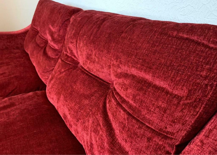 Dfs res burgundy sofa - 2