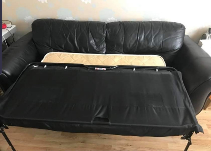 DFS sofabed genuine leather black - 2