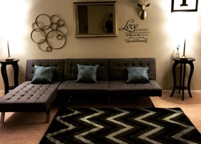 DHP Emily Futon Sofa Bed - 1