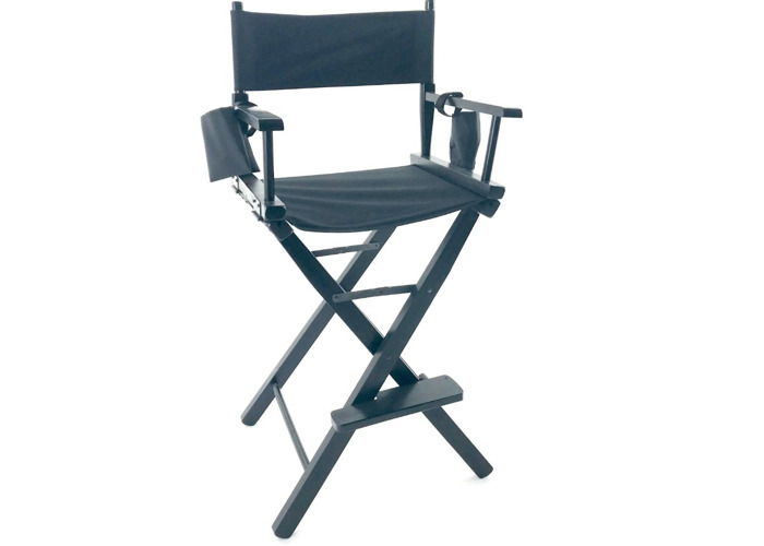 Director's Chair Collapsible Portable Wood Frame - 1