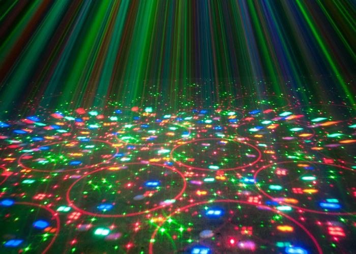 Disco Light: ADJ Stinger (3-in-1) Moonflower, Strobe, Laser - 1