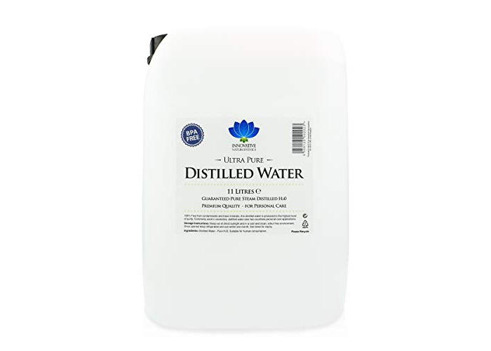 Distilled Water / 11 litres (11L) / Ultra Pure Steam Distilled / 0ppm - 1