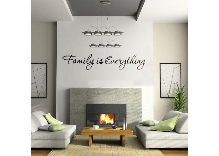 DIY Family is Everything Removable Home Decor Art Vinyl Quote Wall Sticker - 1