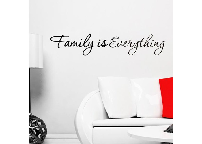DIY Family is Everything Removable Home Decor Art Vinyl Quote Wall Sticker - 2
