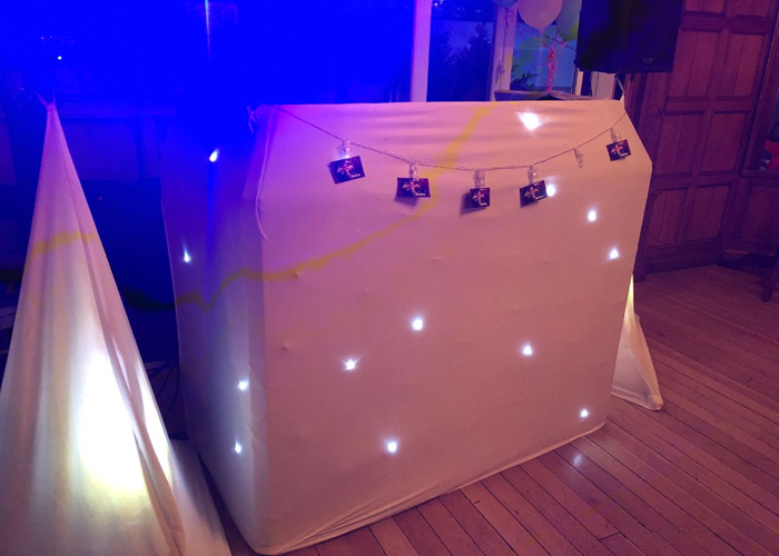 DJ Booth with Star Cloth - 2