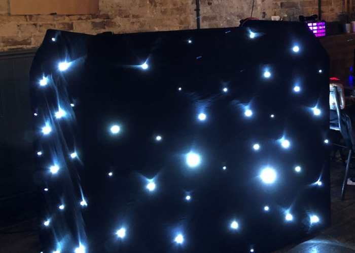 DJ Booth with Star Cloth - 1