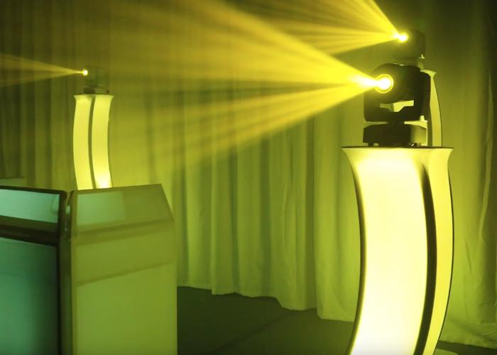 DJ LED plinth/podium, booth, moving heads - 2