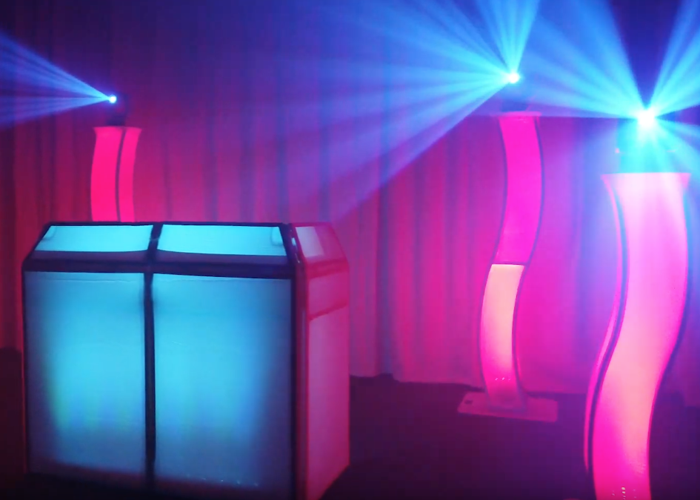 DJ LED plinth/podium, booth, moving heads - 1