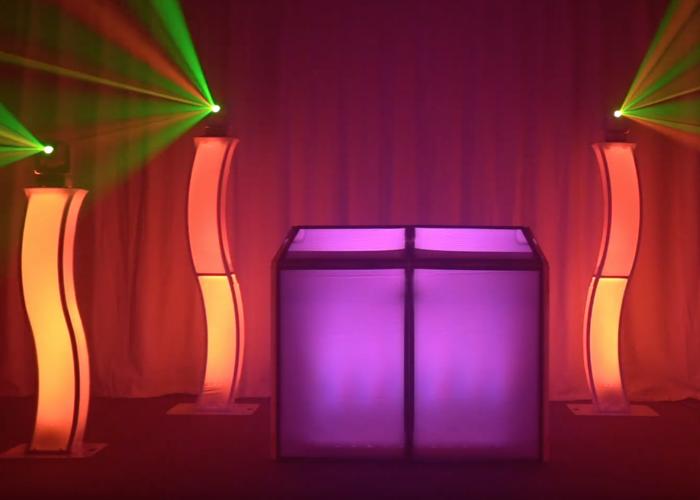 DJ LED plinth/podium, booth, moving heads - 1