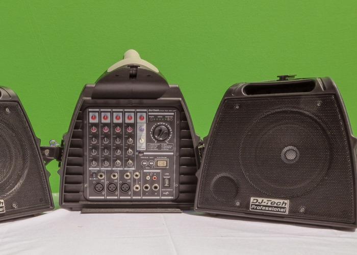 DJ Tech Stage Visa 200 Light Portable 140W PA & Mixer System - 2