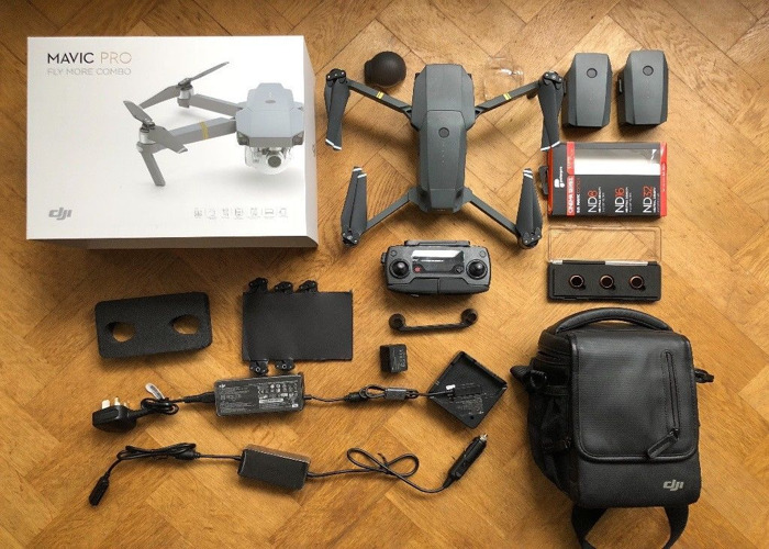 DJI Mavic Pro - 4 Batteries - Fly More Combo with case - 1
