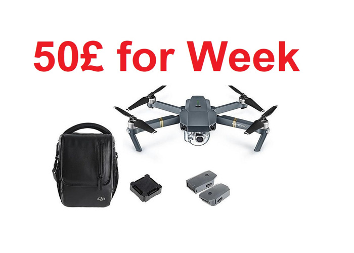 DJI Mavic Pro !! 50 £ por semana !! Drone + 3 Bateria + Bolsa - 1