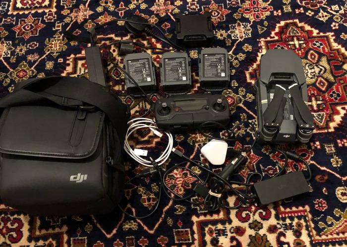 Dji mavic pro, 3 batteries, multicharger, dji bag + sd card - 1