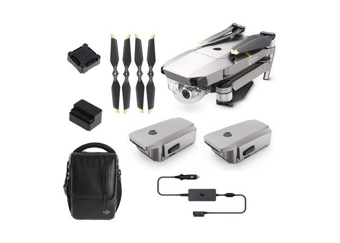 DJI Mavic Pro Platinum 4K Drone with Fly More Combo - 1