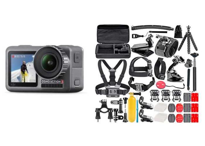 DJI Osmo Action Camera w/ 64GB MicroSD | 4K/60FPS | 1080P/240FPS | Gopro Hero 7 Black - 1