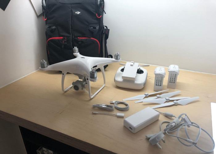 Drone DJI Phantom 4 Pro: paquete, mochila, tarjeta de memoria, etc. - 1