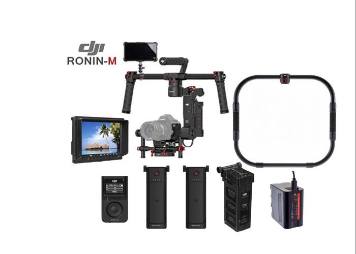 DJI Ronin-M + 3/4 Batteries + Thumb Controller + Monitor  - 1