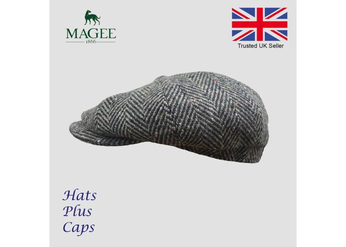 f9d5c618a Buy Donegal Grey Tweed Newsboy Peaky Blinders Flat Cap Bakerboy Wool ...